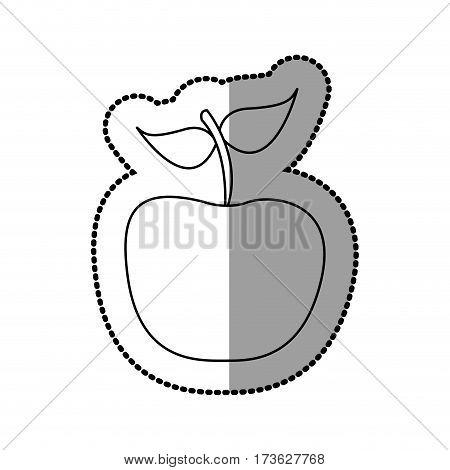 silhouette apple fruit icon stock, vector illustration desing
