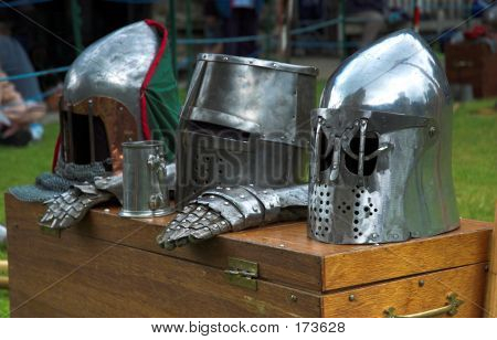 3 Knights Helmets For Medieval Costume