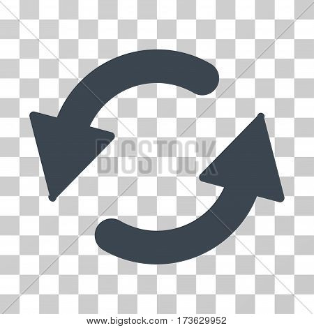 Refresh CCW vector icon. Illustration style is flat iconic smooth blue symbol on a transparent background.