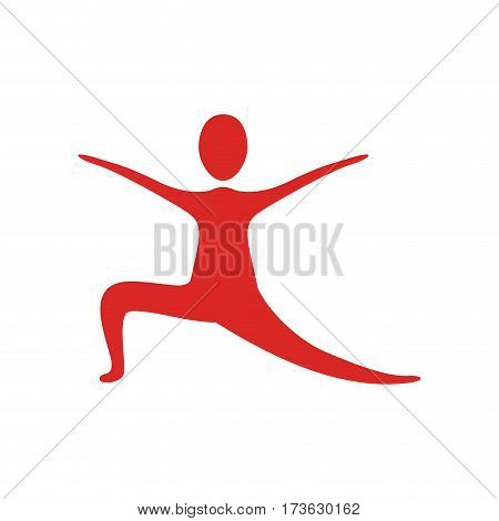 people fitness stretching icon, vector illustration design
