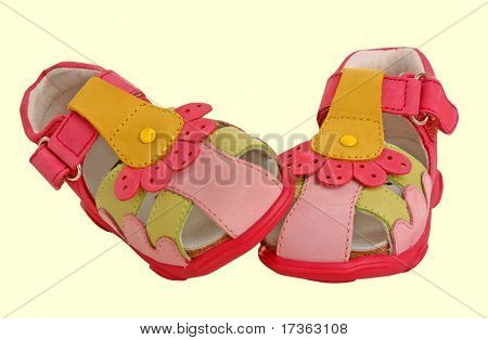 red children shoes isolated