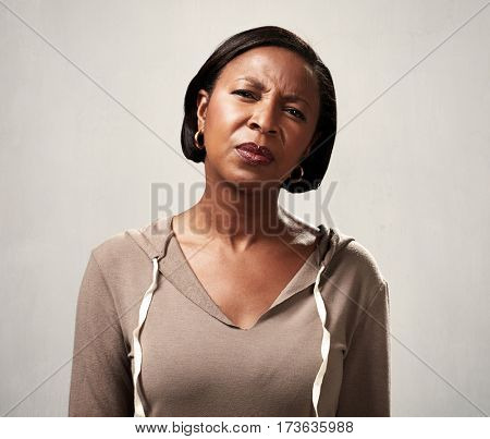 African woman incomprehension