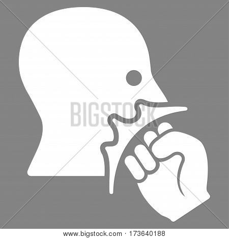 Face Violence Strike vector icon. Flat white symbol. Pictogram is isolated on a gray background. Designed for web and software interfaces.