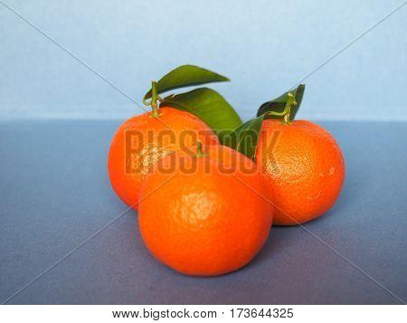 orange tangerine mandarin (Citrus tangerina) fruit vegetarian food