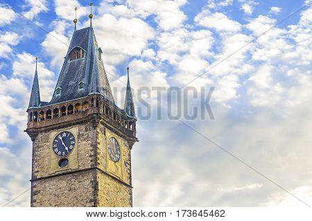 Prague Astronomical Clock. Clock Tower.