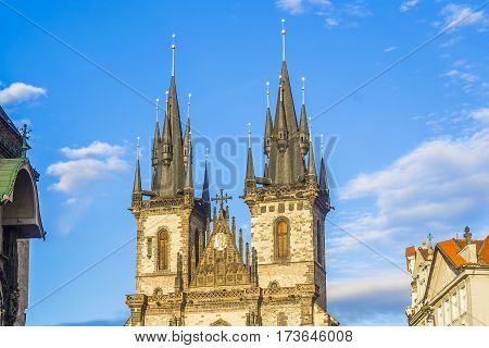 Tyn Church.prague Architecture. The Old Town