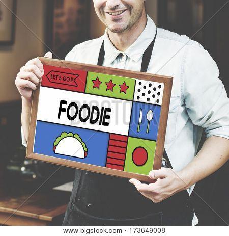 Cuisine Delicious Serving Foodie Illustration