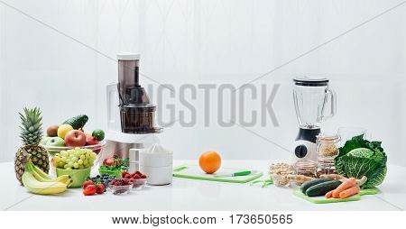 Fresh Fruit, Vegetables And Juicers