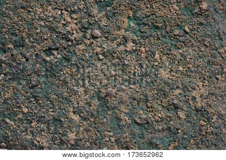 Green Patina rusty metal texture background .