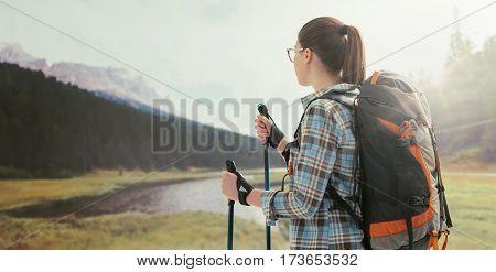 Hiker Contemplating The Panorama
