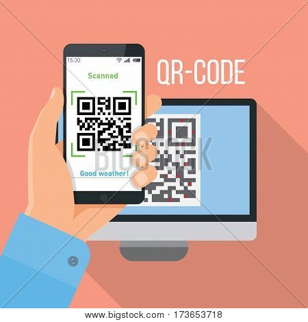 Mobile app for live scanning QR-code (quick response)