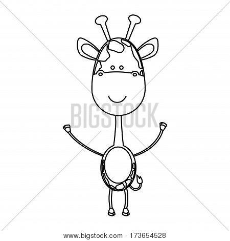 figure sticker girafe icon, vector illustraction design image