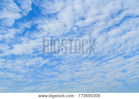Altocumulus Cloud On Sky