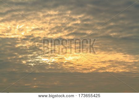 Altocumulus Cloud At Sunlight