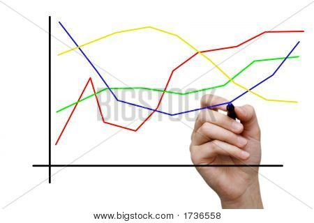 Businesswoman Drawing Colorful Graphic