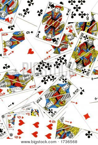 Abstract Background Made With Playing Cards