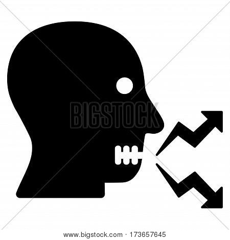 Angry Person Shout vector icon. Flat black symbol. Pictogram is isolated on a white background. Designed for web and software interfaces.