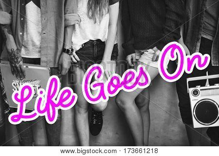 Life Goes On Lifestyle Icon