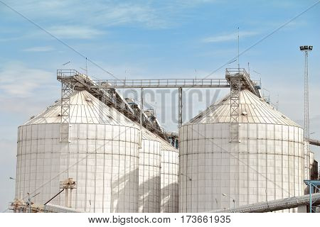 silos for agricultural goods, storage and drying of grains wheat.