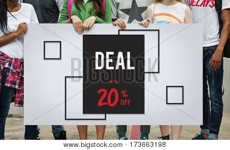 Discount Promotion Clearance Commercial Deal Concept