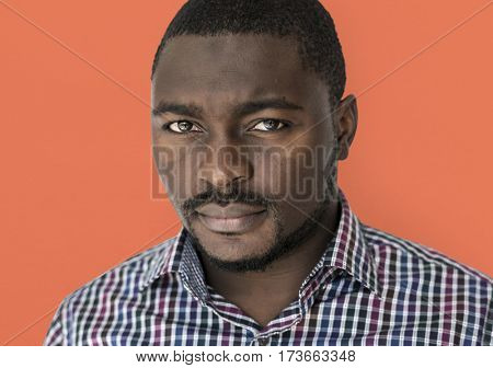 African Descent Man Focused Serious