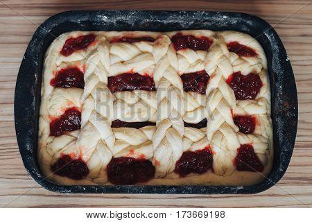 pies cakes of the dough jam black