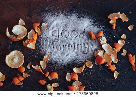 good morning background texture oranges tangerines natural