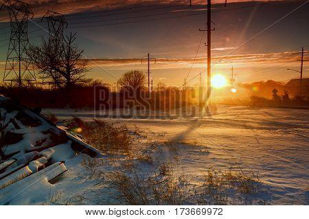 Vivid winter landscape Winter snow sunset tourism, travel, tree, view, vivid, weather white wilderness