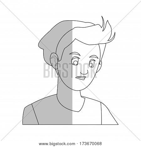 handsome young man wearing beanie hat  icon image vector illustration design