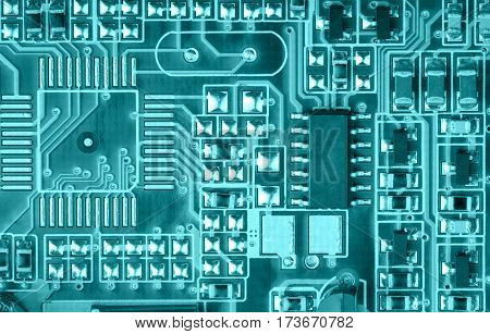 part of electrical board close up