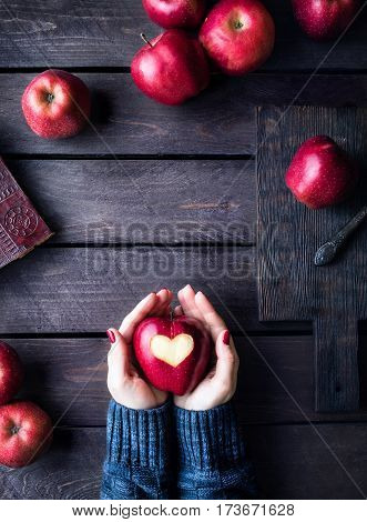 Woman Loves Apples