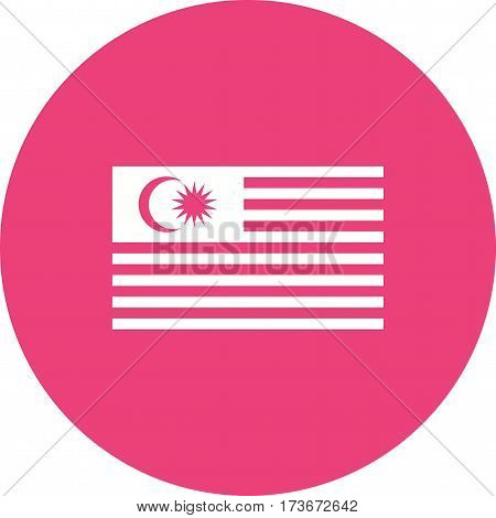 Malaysia, flag, national icon vector image. Can also be used for flags. Suitable for web apps, mobile apps and print media.