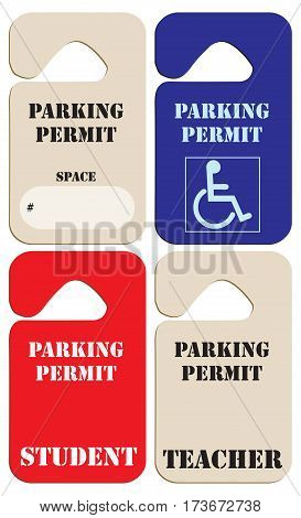 Set parking permits to park in the educational organization.