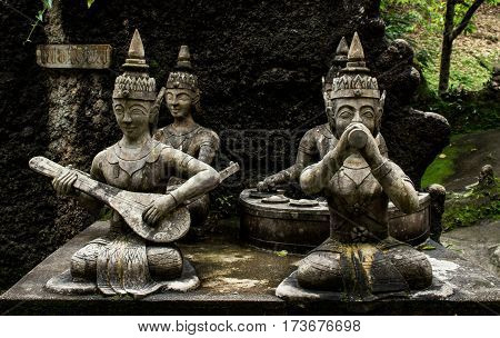 Statues in the Secret Buddha Garden. Thailand Koh Samui