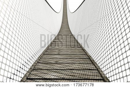 Rope Bridge On White