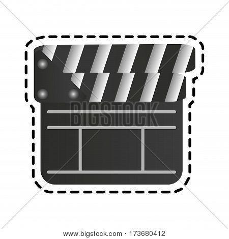 closed clapperboard icon image vector illustration design