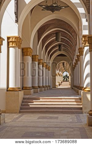 Corridor Of Arches Abstract Architecture