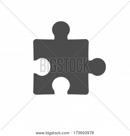 simple puzzle icon isolated on white background. Stock vector illustration