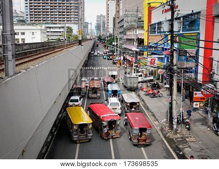 Traffic In Manila, Philippines