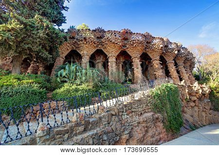 Barcelona Park Guell Spain - nobody at day