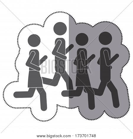 people men Jogging icon stock, vector illustration design