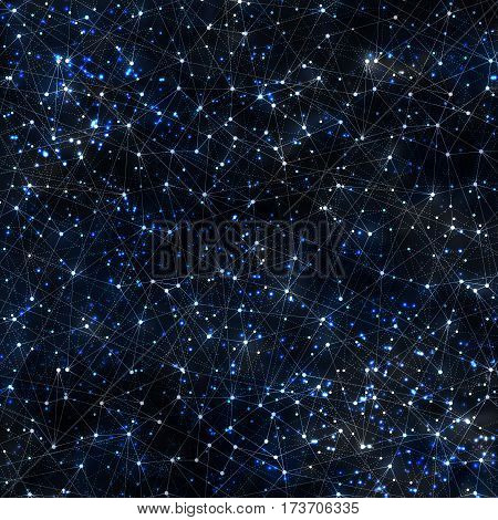 Abstract vector cosmic galaxy background with nebula, stardust, bright shining stars, and geometric pattern. Vector illustration for your design.