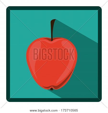 emblem apple icon image, vector illustration design stock