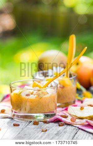 Summer Drink Garden Smoothie Pears Nectarines Raisins