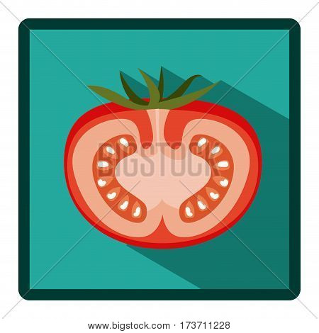 symbol tomato split in half icon, vector illustration design image
