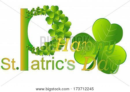 Green shamrock is a symbol of the feast of St. Patrick