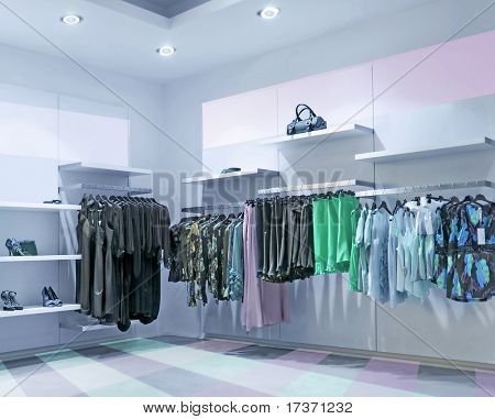 blue convenience store fashion