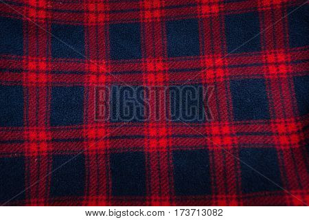 Close-up of background of plaid with vignetting