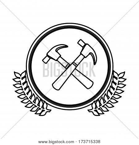 figure symbol hammers icon stock, vector illustration design image