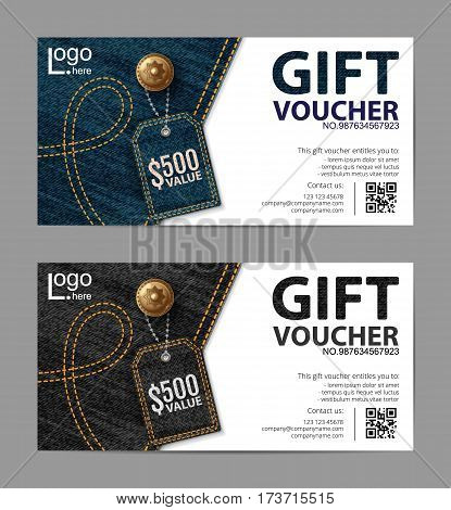 Gift Voucher Template Vector & Photo (Free Trial) | Bigstock
